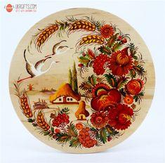 Тарелка с Петриковсксой росписью, диаметр 25 см (05) купить недорого в интернет-магазине Podaro4ek: цена, отзывы, фото.