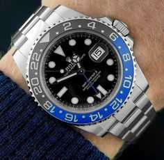 "Rolex GMT-Master II ""Batman"" Gmt Batman, Rolex Batman, Mens Fashion Suits, Men's Fashion, Mens Suits, Rolex Gmt Master, Casual Watches, Luxury Watches For Men, Sport Watches"