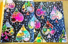 Dylusions paint art journal page