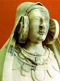 Lady of Guardamar (Dama de Guardamar), also known as the Lady of Cabezo Lucero, is a limestone female bust, 50 cm high, dated circa 400 BCE, that was discovered in fragments in the Phoenecian archaeological site of Cabezo Lucero in Guardamar del Segura in Alicante province, Spain, on September 22, 1987.