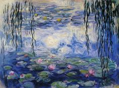 Water lilies by Claude Monet . He was a founder and key figure of the Impressionist movement