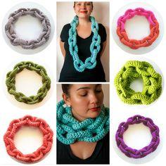 Chain Link Scarf Crochet Pattern Crochet Scarf by KnitsForLife