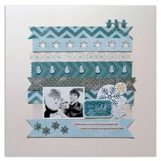 Mini Snowman and Snowflake Pocket Punches Project Scrapbooking Idea from Creative Memories