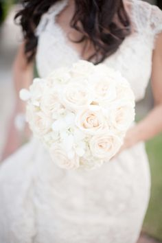 Lovely wedding bouquet. Wonder how this looks in a wider shot - in context of bridal gown, bridesmaids