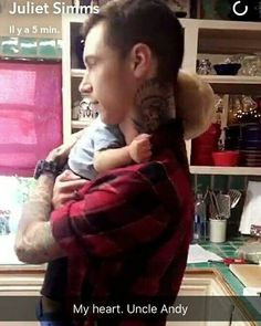 My heart hurts but I know he will be a awesome daddy and be so sweet I love Andy he so consider it and he caring @andyblack happy early birthday Andy you are awesome and will always be my hero and role model