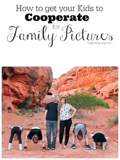 How to get your Kids to Cooperate for Family Pictures! Definitely pinning for later! Capturing-Joy.com