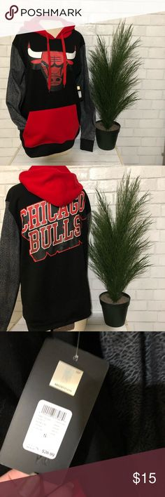 Chicago Bulls Hooded Sweatshirt Rue 21 Size Small This awesome, warm hoodie came from Rue 21. It was a part of their NBA spotlight. It is for the Chicago Bulls and has a bull in the front and Chicago Bulls on the back. This one is men's size small and is new with original tags. It is also licensed and has the NBA hologram. Rue 21 Shirts Sweatshirts & Hoodies