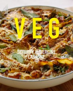 This Jamie Oliver recipe for vegetarian lasagne is so tasty and easy – no need to layer up the pasta, just fold it through, then top with almonds and bake! Veg Lasagne, Lasagne Recipes, Veg Recipes, Pasta Recipes, Vegetarian Recipes, Cooking Recipes, Steak Recipes, Shrimp Recipes, Turkey Recipes