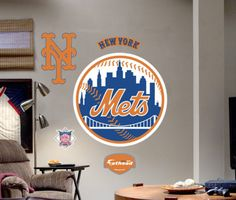 New York Mets Logo -Fathead Wall Decal