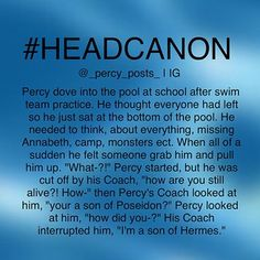 Wait........ Why would a son of Hermes teach swimming?<Bc Percy isn't old enough and there are no other children of Poseidon