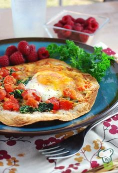 Breakfast Tortilla Recipe : Try this breakfast tortilla for a healthy open-faced breakfast sandwich. This easy egg recipe makes a delicious high protein breakfast or light lunch.