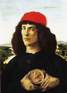 Botticelli Sandro Ritratto virile con medaglia di Cosimo il Vecchio, c. 1475