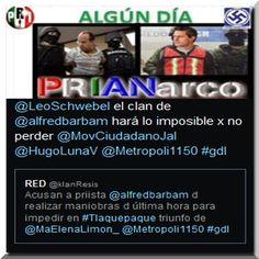 klanResis - @EPN @AristotelesSD @alfredbarbam realiza maniobra d última Hora para impedir en #Tlaquepaque triunfo d #MC #REZINEWS pic.twitter.com/eJEkFLgJFk