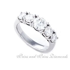 Five Stone Diamond Engagement Ring - Prins & Prins Diamond Engagement Rings, Centre, Stones, Wedding Rings, Jewelry, Rocks, Jewlery, Jewerly, Schmuck