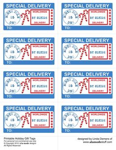 Special Delivery tags from Santa