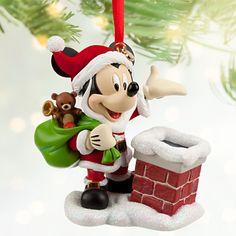 Santa Mickey Mouse Sketchbook Ornament | Ornaments | Disney Store