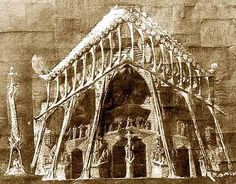 Sagrada Familia / Others Materials / Original drawing of Gaudi for the Passion's façade