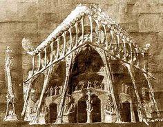 Sagrada Familia / Others Materials / Original drawing of Gaudi for the Passion's façade