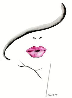 Colored lips