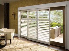 Custom polysatin shutters: Palm Beach™ by Hunter Douglas,http://www.hwfashions.com/products/CustomWindowTreatments/CustomShutters