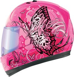 Blossoming from its cocoon the intrepid caterpillar unfolds into a glorious skull winged monarch. For if there weren't skulls, what kind of helmet would this be? Certainly not another classic from the pen of our very own Tanner. BTW - we made it in purple because all women hate pink - Facebook® told us so. from Icon Motosports