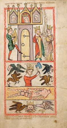 Speculum Humanae Salvationis, Westfalen o Colonia, ca. Medieval Manuscript, Medieval Art, Illuminated Manuscript, Medieval Music, Renaissance Music, Romanesque Art, Medieval Paintings, Early Middle Ages, Book Of Hours