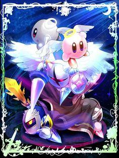 Meta Knight, Dark Meta Knight, Galacta Knight, Shadow Kirby, Kirby