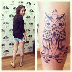 Owl tattoo - just lines like I want