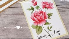 Watercolor Roses Speedpaint - Rose in Acquerello Watercolor Rose, Hobby, Diy Tutorial, Cards, Painting, Pink, Draw, Do Crafts, Pink Watercolor