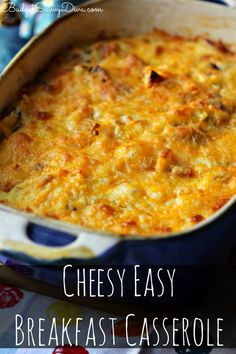 This is the ULTIMATE breakfast casserole - TONS of Cheese, Meat, and Potatoes! Cheesy Easy Breakfast Casserole Recipe #breakfast #casserole #glutenfree #budgetsavvydiva via budgetsavvydiva.com