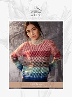 Ginnie Jumper Knitting Pattern in Willow and Lark Nest - Downloadable PDF