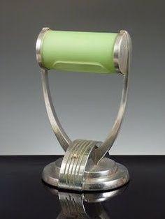 Art Deco inspired desk lamp.  Art Deco, The Great Gatsby, Roaring 20's, 1920's, 1930's, Flapper, Design, Style www.BrassTacksEvents.com www.facebook.com/BrassTacksEvents www.twitter.com/BrassTacksEvent