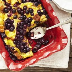 We love easy blueberry baked french toast