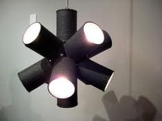 painted can light - cool idea for the youth room! Love it!