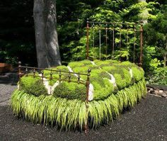 """Another garden """"bed"""".... I'm fascinated by these!!  And I love the bed skirt on this one!"""