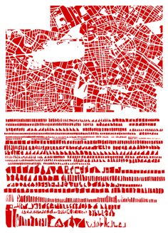BERLIN- The Famous Grids of Iconic Cities, Deconstructed and Remixed. I saw a project like this done with flags but having these chunks of color and shapes of states is fascinating