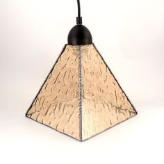 Stained Glass Pendant Light  Kitchen Island by Nostalgianmore The texture makes such interesting patterns on its surroundings!