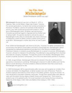 Michelangelo | Printable Biography