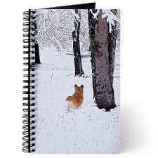 Pembroke Welsh Corgi in the snow Journal