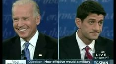 At the 2012 Vice Presidential debate, Vice President Biden spent 90 minutes laughing and rolling his eyes.