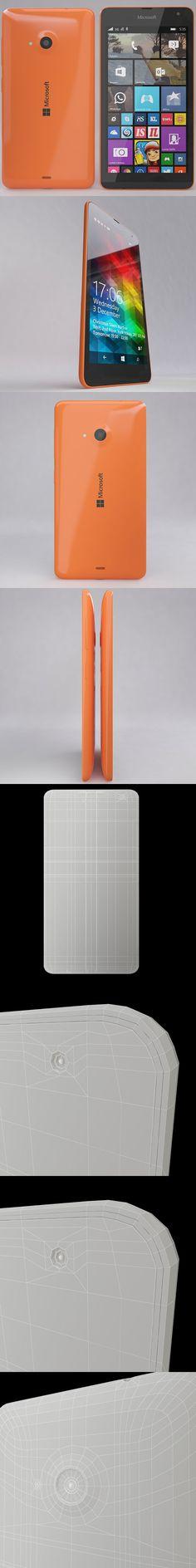 Microsoft Lumia 535 Orange. 3D Objects