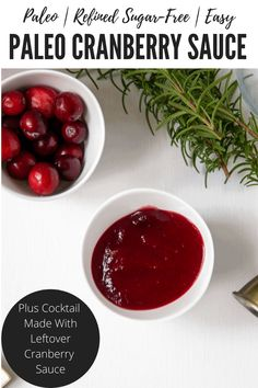 Do you have a ton of cranberry sauce leftover from Thanksgiving? Need a cocktail for your Thanksgiving dinner? Try this simple and flavorful Cranberry and Bourbon Cocktail. This recipe also includes a simple recipe for Paleo Cranberry Sauce. #paleocranberrysauce #cranberryandbourboncocktail #leftovercranberrysauce