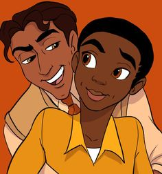 Pin for Later: See What It'd Look Like If Prince Philip and Prince Eric Were in Love Prince Naveen and Male Tiana