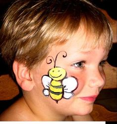 Cheek Bee by FairyDustFaces: * Always use an approved face paint makeup. Acrylic and craft paint are not for use on the skin...don't risk it on your child or anyone else! I recommend