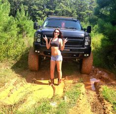 lifted Chevrolet Silverado Truck with extras