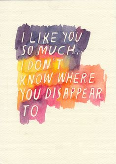 """I like you so much, I don't know where you disappear to"" -Hannah Horvath #GIRLS quote by rocketrictic, via #Flickr"