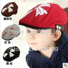 0592f4b5c6332 Click to Buy    Fashion spring autumn cross letter cap children letter beret  hat baby boys girls peaked cap free shipping  Affiliate