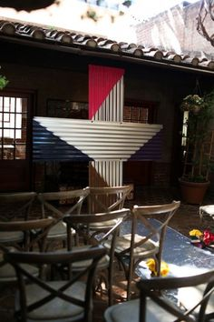 "corrugated medal ceremony ""+"" sign ceremony backdrop - jesi haack design"
