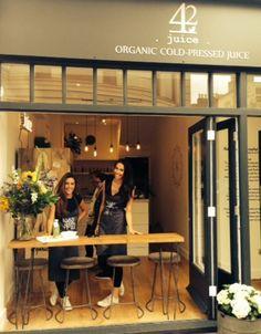 JUICE BAR - interiors - 42 juice - organic - cold pressed - raw food - vegan - plant based - brighton