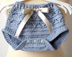Knitting Pattern PDF file Blue Flowers Baby by loasidellamaglia